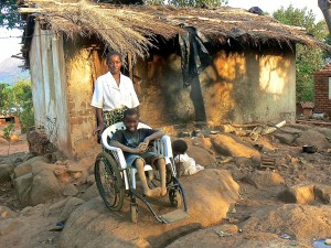 Wheelchair programs provide mobility to the poor.