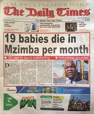 Nineteen Babies Die A Month