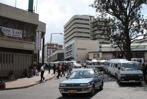 Traffic in downtown Blantyre