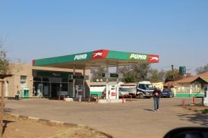 A petrol station along the road