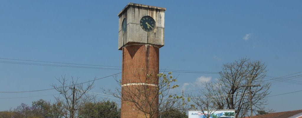 A clock tower in Mzuzu