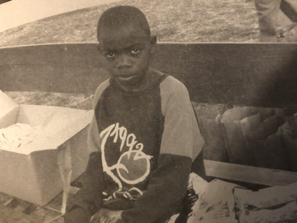 Chifuniro as a boy