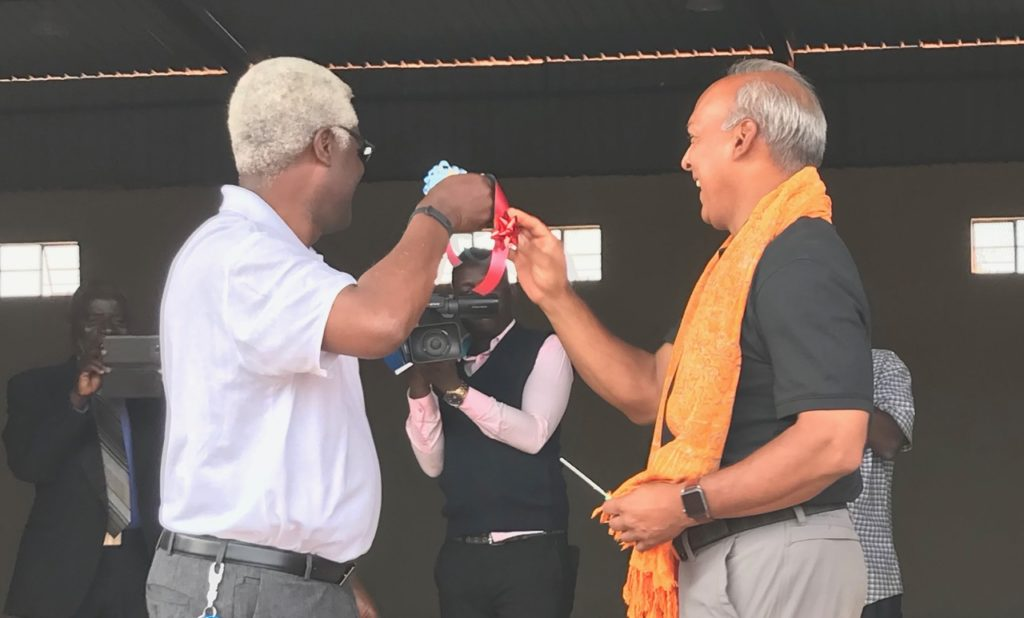 Chester Kabinda-Mbewe and Bryon Bhagwandin at the ribbon cutting ceremony