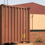 A storage container outside the distribution hub