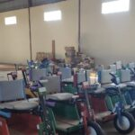 Mobility units in a warehouse ready for distribution