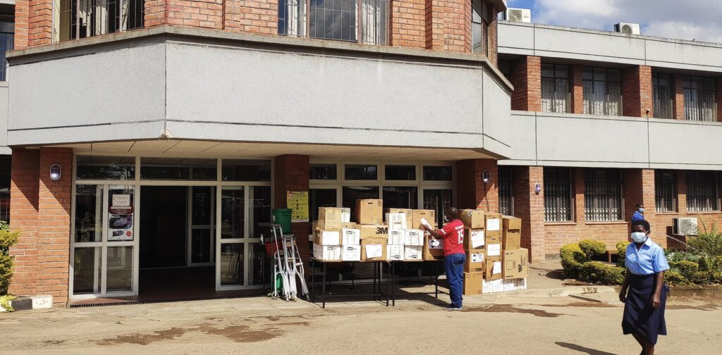 "Preparations for medical supply ""Turning Over Ceremony"" at Queen Elizabeth Hospital in Blantyre, Malawi"