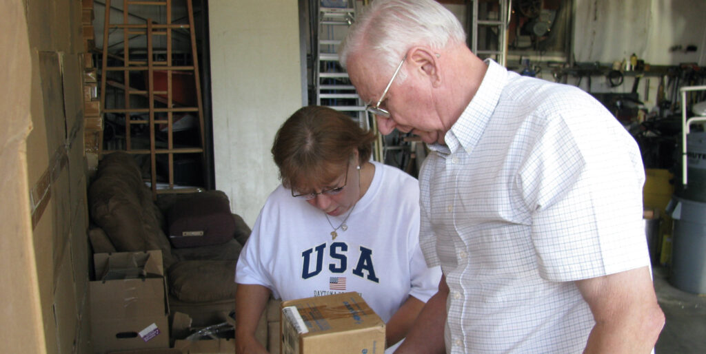 Jerry Winstead reviewing supplies in Malawi