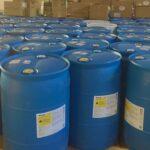 Blue barrels of bleach