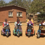 Malawians showing their mobility units