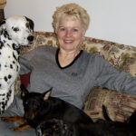 Shirley and her dogs